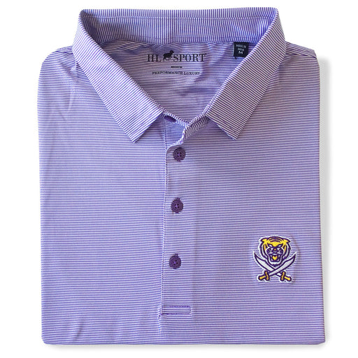 Bengals & Bandits Horn Legend 4 Way Even Stripe Stretch Performance Polo - Purple