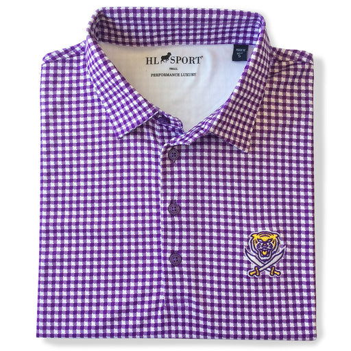 Bengals & Bandits Horn Legend Glen Plaid Performance Polo - Purple
