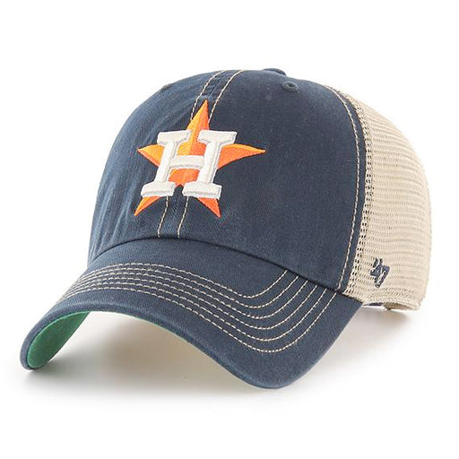 Houston Astros 47 Brand Star Clean Up Trawler Mesh Trucker Hat - Navy