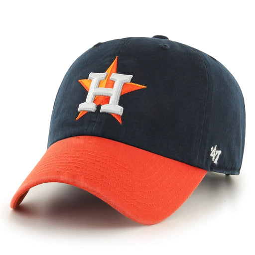 Houston Astros 47 Brand Star Two Tone Clean Up Adjustable Hat - Navy / Orange