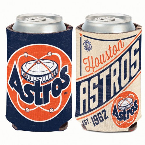 Houston Astros Retro Double Sided 12oz Can Cooler Koozie