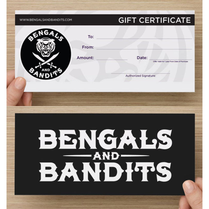 Bengals & Bandits - In Store Gift Card
