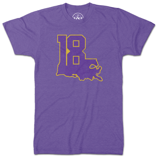 'Louisiana 18' Hester Sports Foundation T-Shirt - Purple