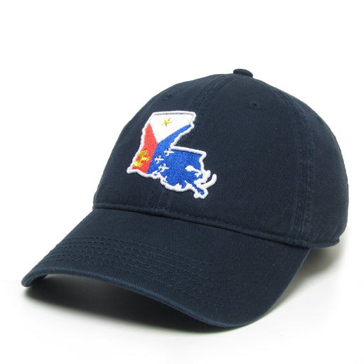 Homegrown Acadiana Outline Relaxed Twill Hat - Navy