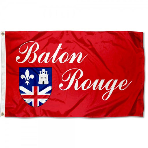 Louisiana Homegrown Baton Rouge City 3' x 5' Flag - Red