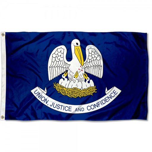 Homegrown Louisiana State 3' x 5' Flag - Navy