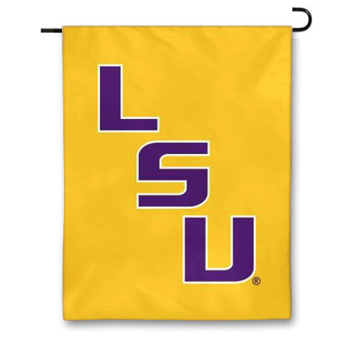 "LSU Tigers Stair Step 13"" x 18"" Printed Garden Flag - Gold"