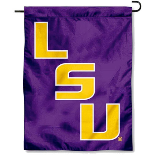 "LSU Tigers Stair Step 13"" x 18"" Printed Garden Flag - Purple"