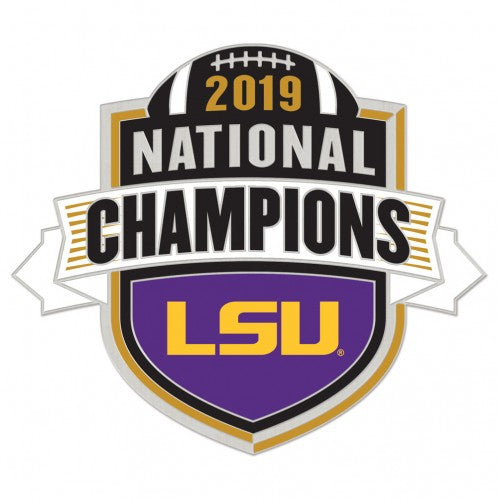 LSU Tigers 2019 National Champions Shield Lapel Pin