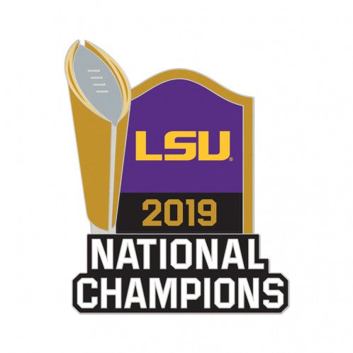 LSU Tigers 2019 National Champions Trophy Lapel Pin