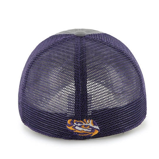 LSU Tigers 47 Brand Stretch Mesh 47 Closer Blue Mountain - Grey