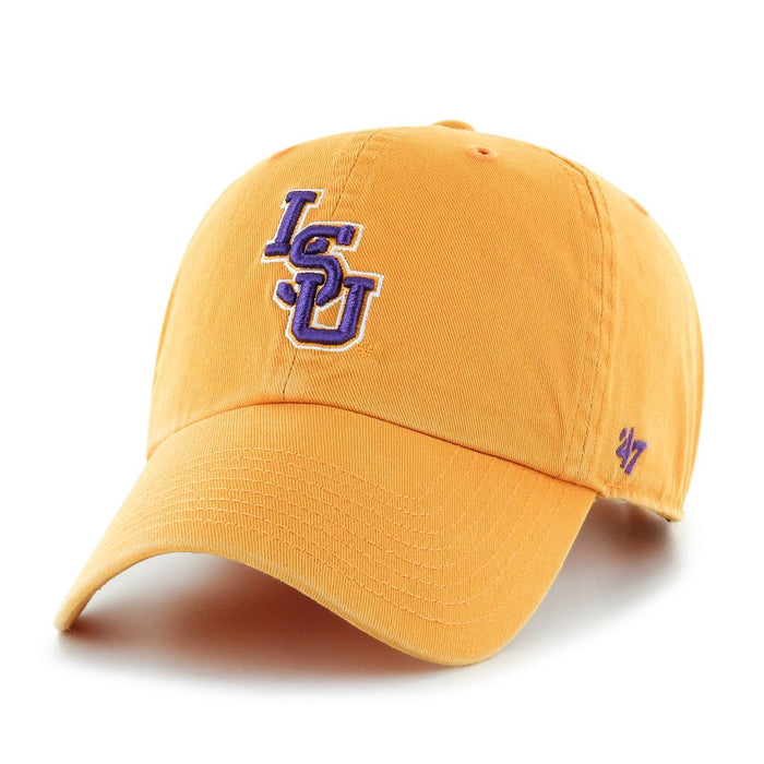 LSU Tigers 47 Brand Interlock Clean Up Adjustable Hat - Gold