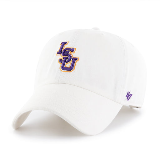 LSU Tigers 47 Brand Interlock Clean Up Adjustable Hat - White