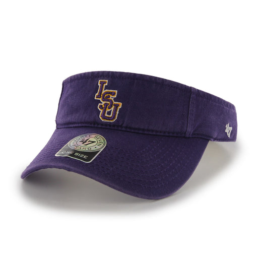 LSU Tigers 47 Brand Interlock Adjustable Visor - Purple