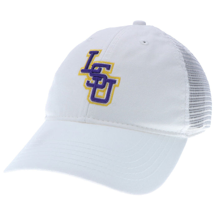 6296cb31 LSU Tigers Interlock Legacy Relaxed Twill Mesh Trucker Cap - White ...