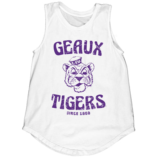 LSU Tigers Blue 84 Women's Beanie Mike Rose Bowl Muscle Tank - White