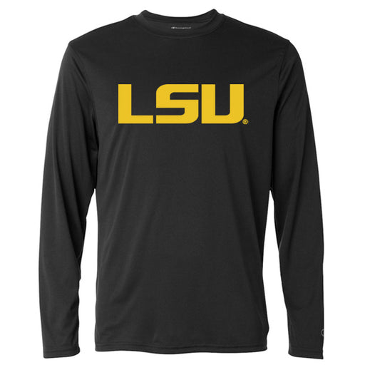 LSU Tigers Champion Performance Long Sleeve T-Shirt - Black