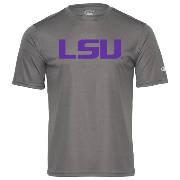 LSU Tigers Champion Performance Short Sleeve T-Shirt - Titanium