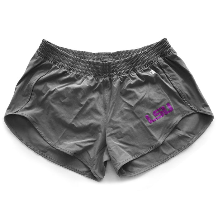 LSU Tigers Champion Women's Team Shorts - Titanium