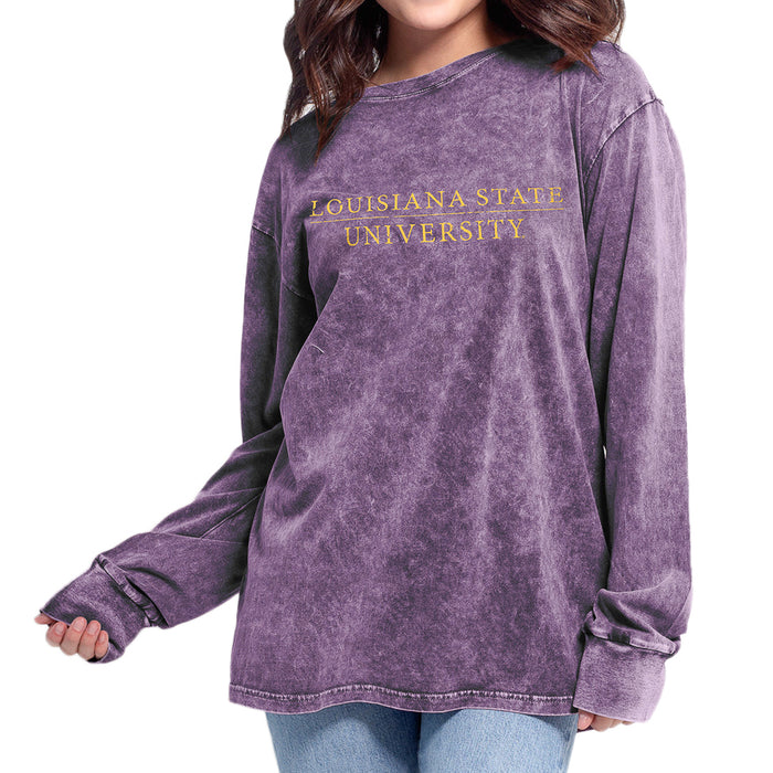 LSU Tigers Chicka-d Bar Everybody Long Sleeve T-Shirt - Purple