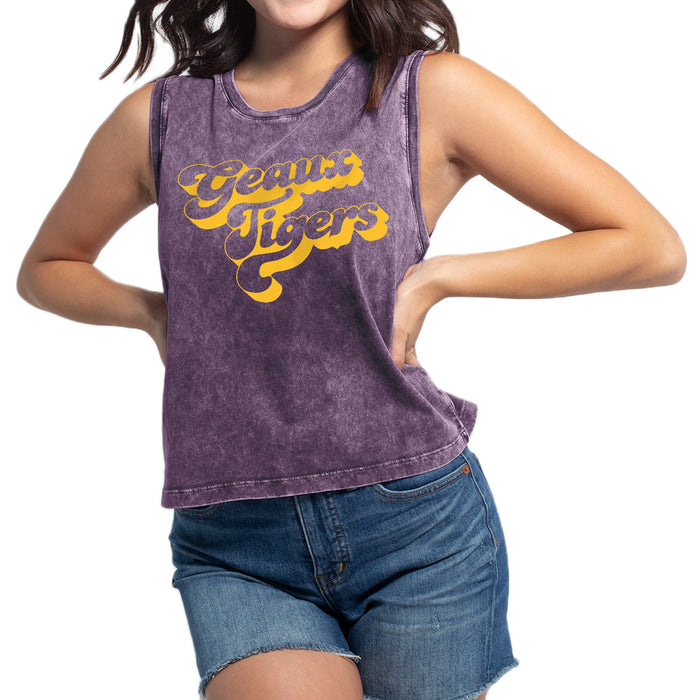 LSU Tigers Chicka-d Retro Geaux Tigers Tank