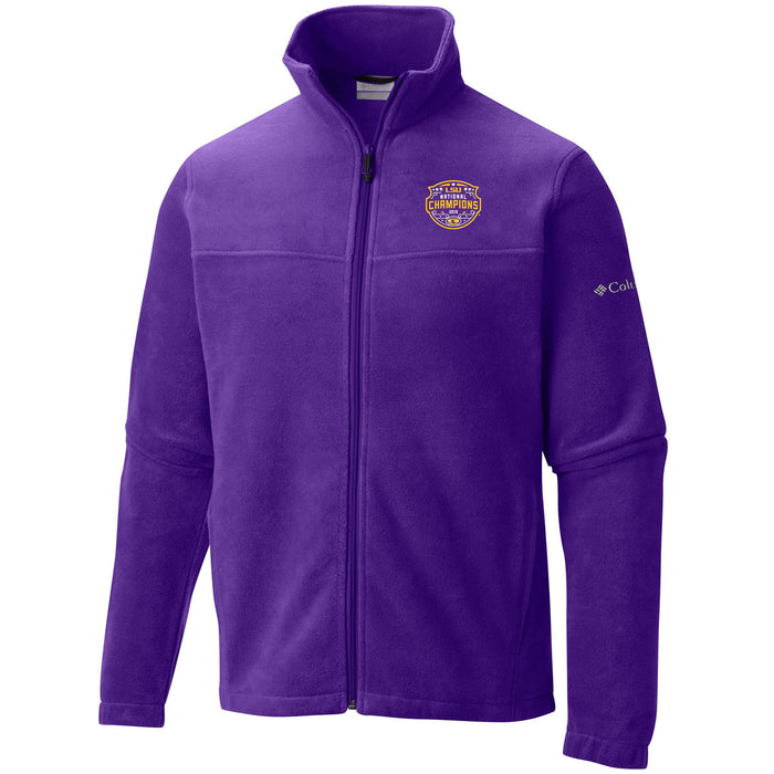 LSU Tigers Columbia Sportswear 2019 National Champions Flanker Fleece Jacket - Purple