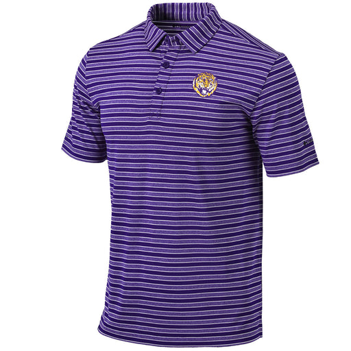 LSU Tigers Columbia Sportswear Round Vault Members Stripe Polo - Purple