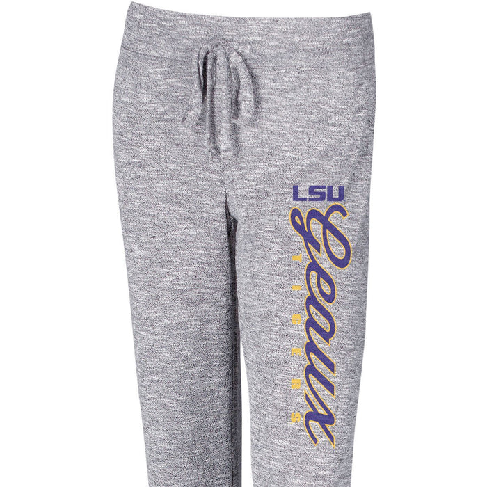 LSU Tigers Concepts Sport Women's Layover Knit PJ Pants – Grey