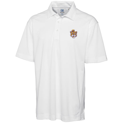 LSU Tigers Cutter & Buck Drytec Genre Beanie Tiger Polo - White