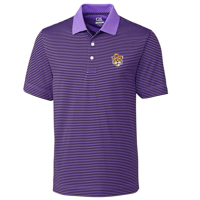 LSU Tigers Cutter & Buck Trevor Stripe Beanie Tiger Polo - Purple
