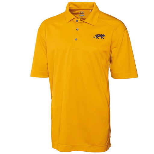 LSU Tigers Cutter & Buck Drytec Genre Silhouette Tiger Polo - Gold