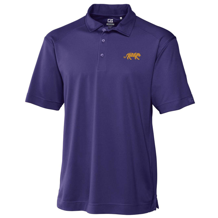 LSU Tigers Cutter & Buck Drytec Genre Silhouette Tiger Polo - Purple