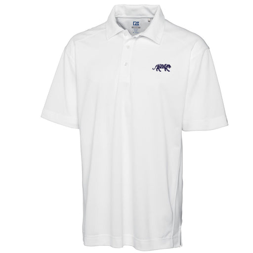 LSU Tigers Cutter & Buck Drytec Genre Silhouette Tiger Polo - White