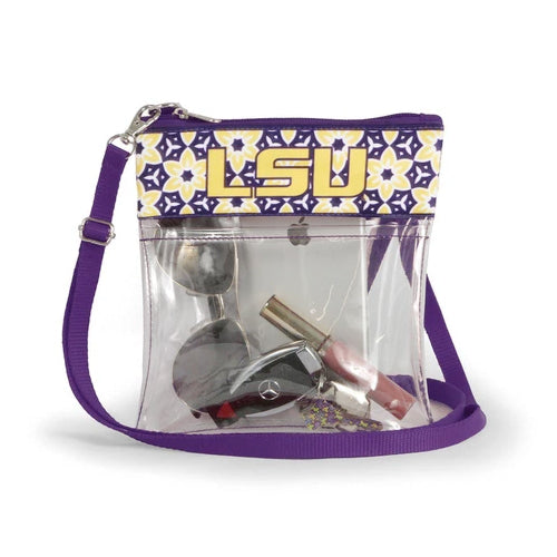 LSU Tigers Desden Clear Game Day Crossbody Purse