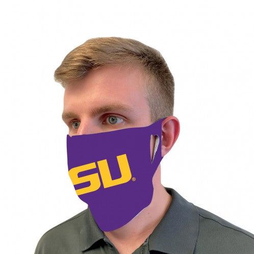LSU Tigers Wincraft Resuable Adult Face Mask / Cover - Purple