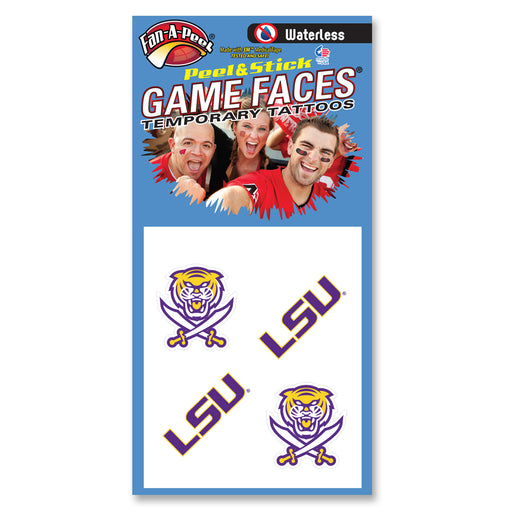 Bengals & Bandits + LSU Waterless Face Tattoos