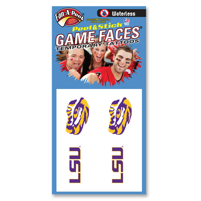LSU Tiger Eye Waterless Face Tattoos