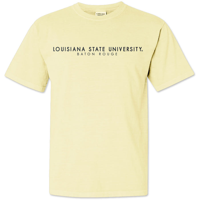 LSU Tigers Louisiana Circle Scene Garment Dyed T-Shirt - Banana