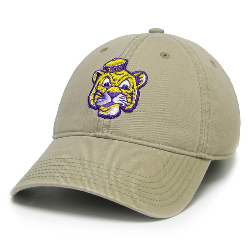 LSU Tigers Legacy Beanie Tiger Relaxed Twill Hat - Khaki