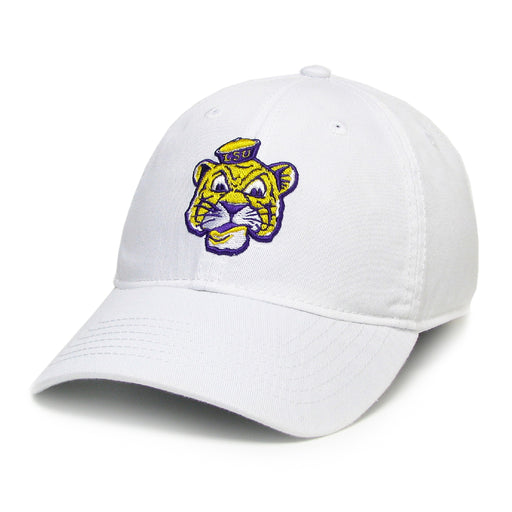 LSU Tigers Legacy Beanie Tiger Relaxed Twill Hat - White