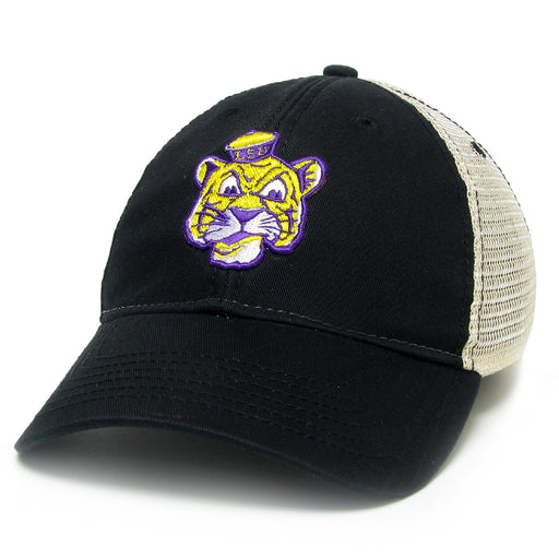 LSU Tigers Legacy Beanie Tiger Relaxed Twill Trucker Hat - Black