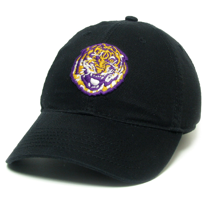 LSU Tigers Legacy Round Vault Relaxed Twill Hat - Black