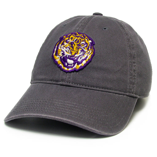 LSU Tigers Legacy Round Vault Relaxed Twill Hat - Dark Grey