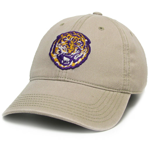 LSU Tigers Legacy Round Vault Relaxed Twill Hat - Khaki
