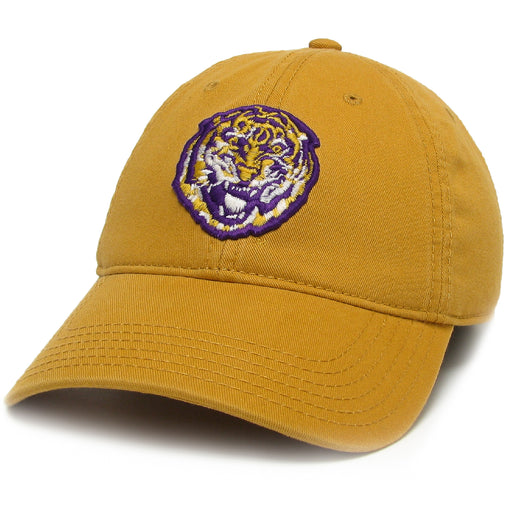LSU Tigers Legacy Round Vault Relaxed Twill Hat - Mustard
