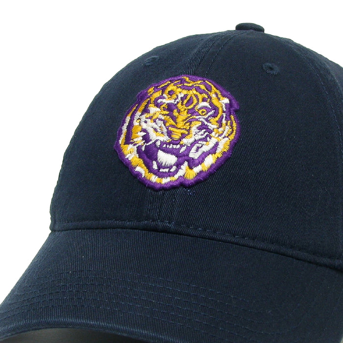 LSU Tigers Legacy Round Vault Relaxed Twill Hat - Navy