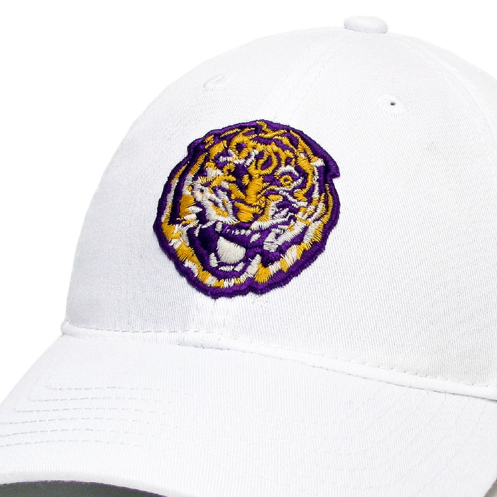 LSU Tigers Legacy Round Vault Relaxed Twill Hat - White