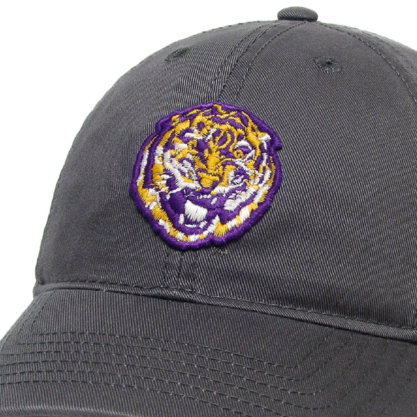 LSU Tigers Legacy Round Vault Relaxed Youth Twill Hat - Dark Grey