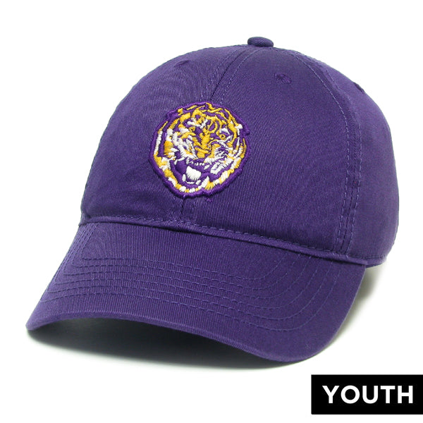 LSU Tigers Legacy Round Vault Relaxed Youth Twill Hat - Purple