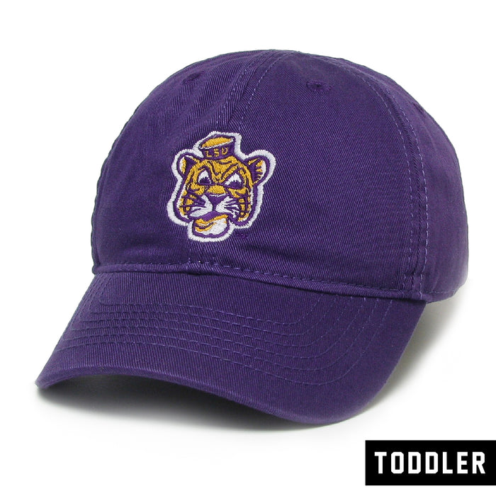 LSU Tigers Legacy Beanie Mike Relaxed Twill Toddler Hat - Purple